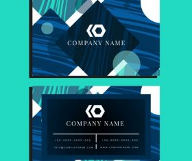 Business card template flat modern abstract geometric vector