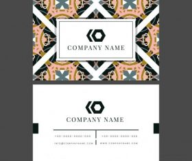 Business card template abstract symmetric pattern illustration vector