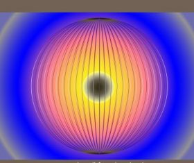 Decorative background circle lighting lantern vector