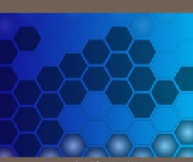 Decorative background polygonal honeycomb shapes flat blue vector