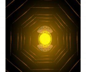 Decorative background dark shining light blurred central egg vector