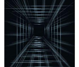 Technology background dark 3d geometric depth dynamic set vector