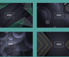 Abstract background templates modern dark geometric vector