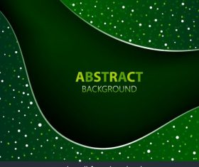 Decorative background abstract sparkling green spots curves set vector