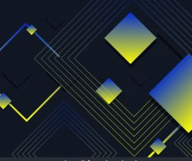 Technology background dark colored geometric vector