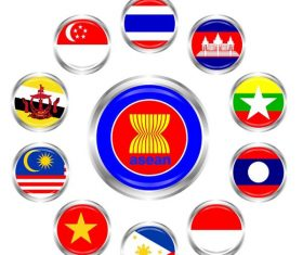 Asean flag vector