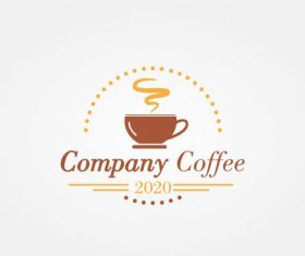 Logo coffe modern vector