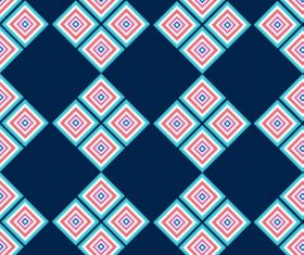 Decorative pattern delusive geometric colored flat vector