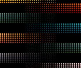Decorative background colored circles lights effect horizontal layout vector