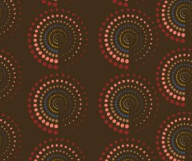 Decorative pattern colored repeating spiral circles vector