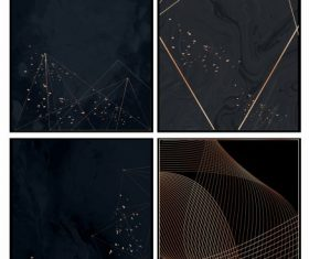 Decorative backgrounds dark modern abstract dynamic vector