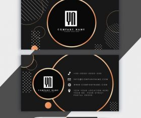 Business card template luxury dark circles illustration vector