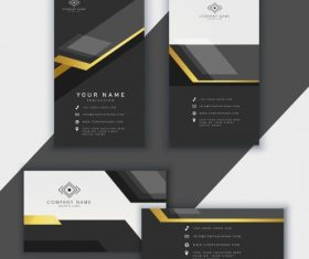 Business card template luxury modern black white vector