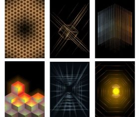 Decorative background templates modern 3d geometric vector