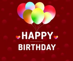 Happy birthday greeting card vectors material