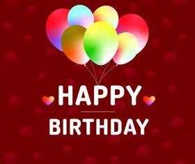 Happy birthday greeting card vectors material