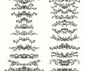Document decorative elements collection shapes vector material