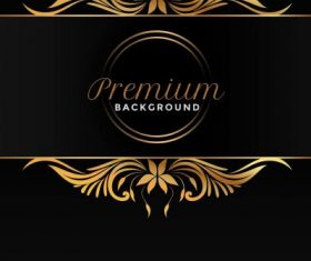 Premium background black golden vector