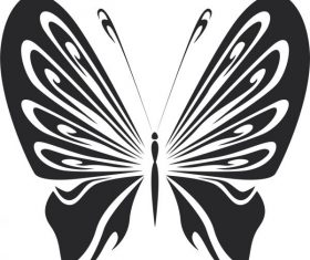 Vintage butterfly stencils free vector design
