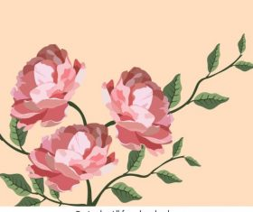 Botany painting colored classical vector