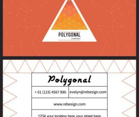 Business card template geometric modern flat vectors material