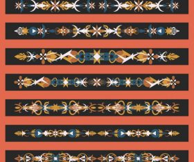 Templates tribal symmetric horizontal design vector