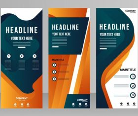 Corporate poster templates banners vector