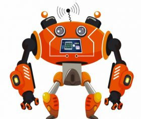 Robot colorful modern shape design vectors