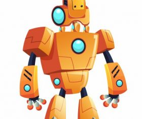 Robot model shiny modern android shape vector