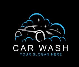Car wash logo template vector