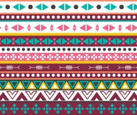 Tribal pattern repeating geometric shapes horizontal layout vector