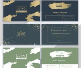 Business card templates grunge elegance themes vector