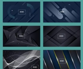 Abstract background templates modern dynamic geometric illustration vector