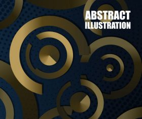 Decorative background modern shiny golden circles vectors