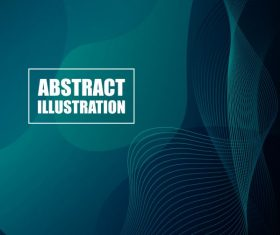 Decorative dynamic curved lines dark abstract background vector