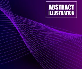 Decorative background violet 3d dynamic technology vector