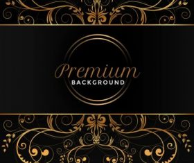 Premium symmetric curves dark decor background vector