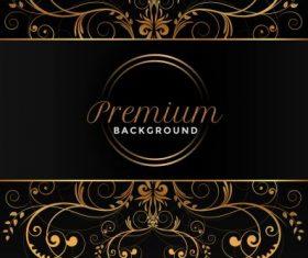 Premium symmetric curves dark decor background vector