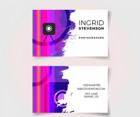 Color full business card vector design