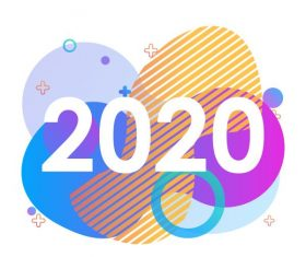 Creative 2020 design background vector