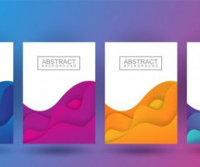 Pastel color in wavy and gradient illustration vector