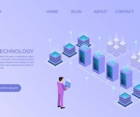 Information isometric cartoon vector