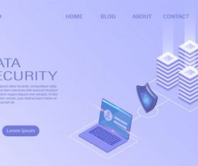 Data security concept vector