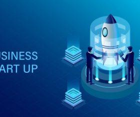 Business success goal isometric illustration cartoon vector