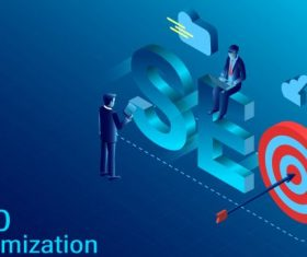 Seo optimization concept vector design