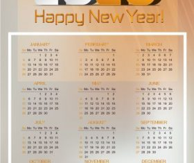 2020 calendar template bright modern blurred vector