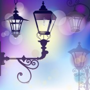Link toCartoon street lamp background vector set 01