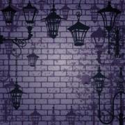 Link toCartoon street lamp background vector set 02