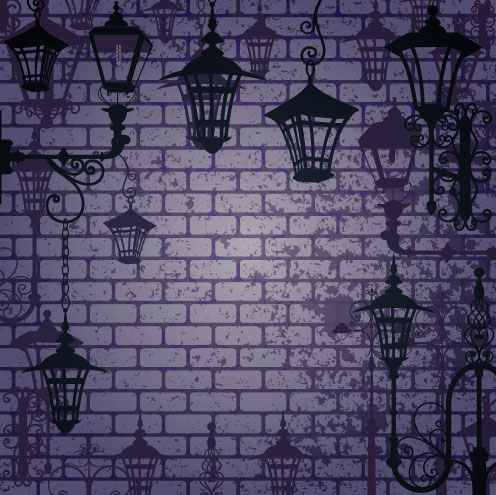 Street Lamp Background Cartoon Street Lamp Background