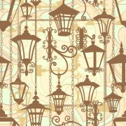 Link toCartoon street lamp background vector set 03
